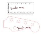 Fender Jazz Bass curved Logo decal